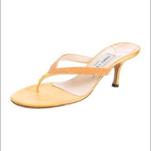 91563142d20f Jimmy Choo Shoes - Jimmy Choo Embellished Sandals - Size 6.5